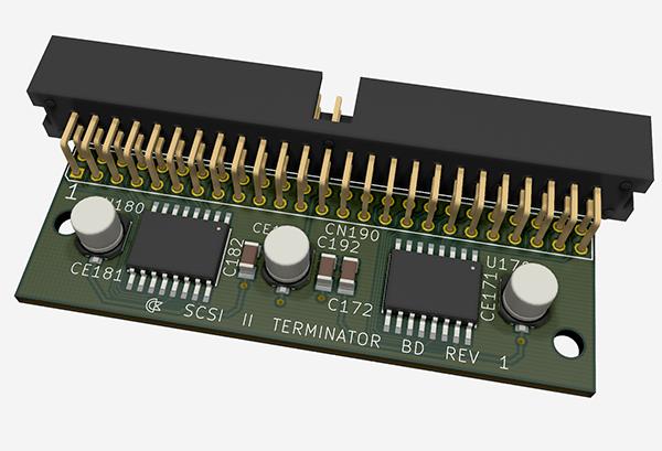 Commodore SCSI II Terminator Board