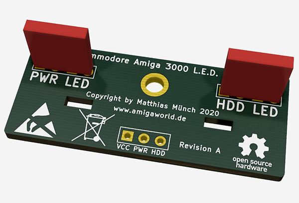 Amiga 3000 LED PCB