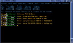 Amiga 1200 Fast Clockport Benchmark