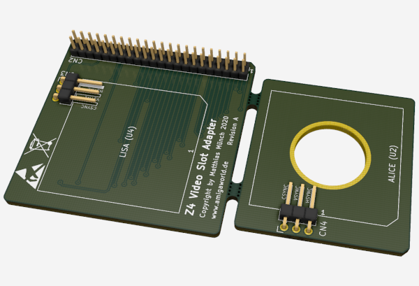 Amiga 1200 Z4 Video Slot Adapter